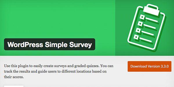 wordpress-simple-survey