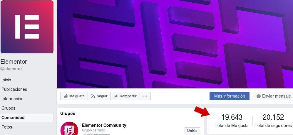 comunidad elementor facebook